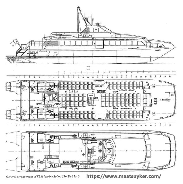 32-metre fast passenger catamaran can accommodate 186 passengers