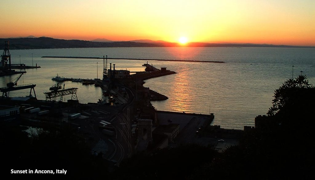 As you will be travelling by evening ferry, this is how sunsets look here over the seascape