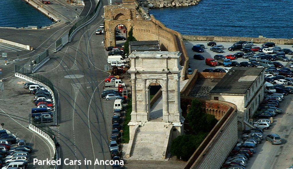 Parked cars in Ancona port