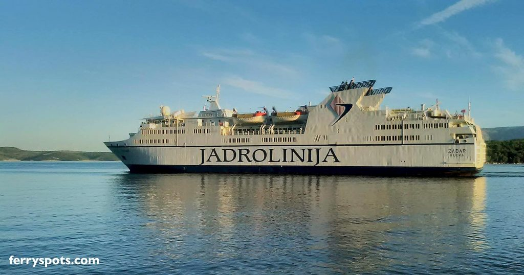 Zadar ferry sailing to Ancona in Italy