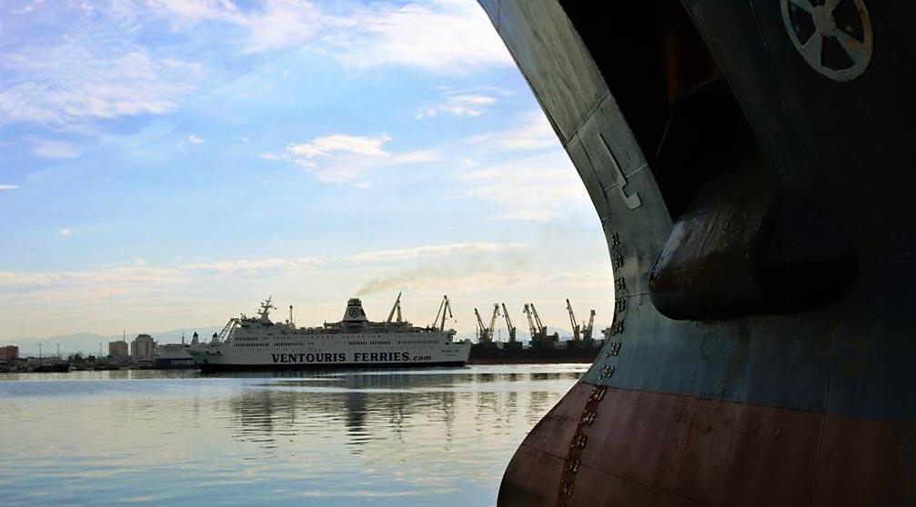 Ventouris Ferries docking in Durres