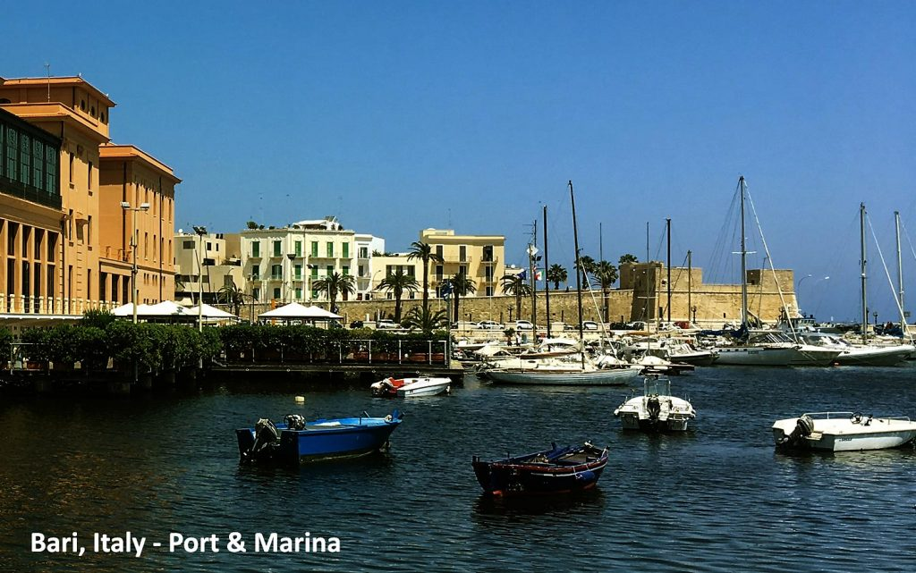Bari in Italy, Marina and Boats