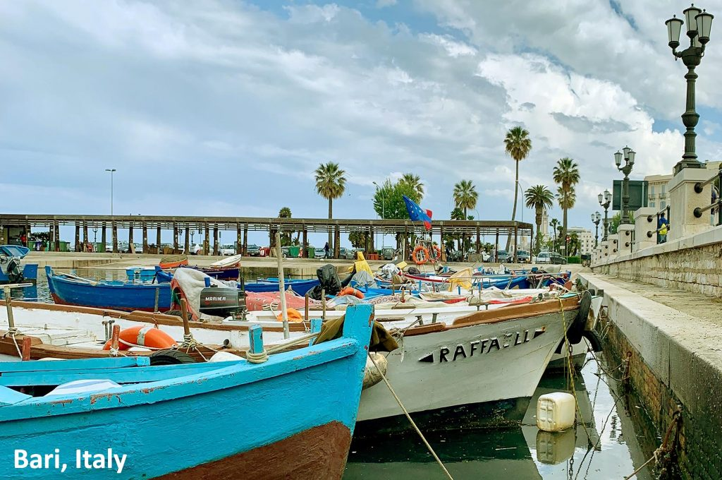 Parking in Bari port
