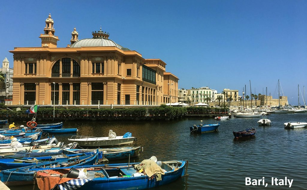 Port in Bari and Museo Teatro Margherita
