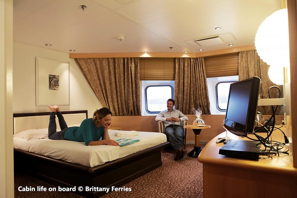 On board of Brittany Ferries - deluxe outside cabin