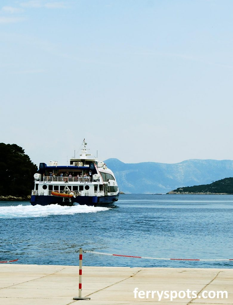 Croatian ferry crossing to an island in the Adriatic Sea