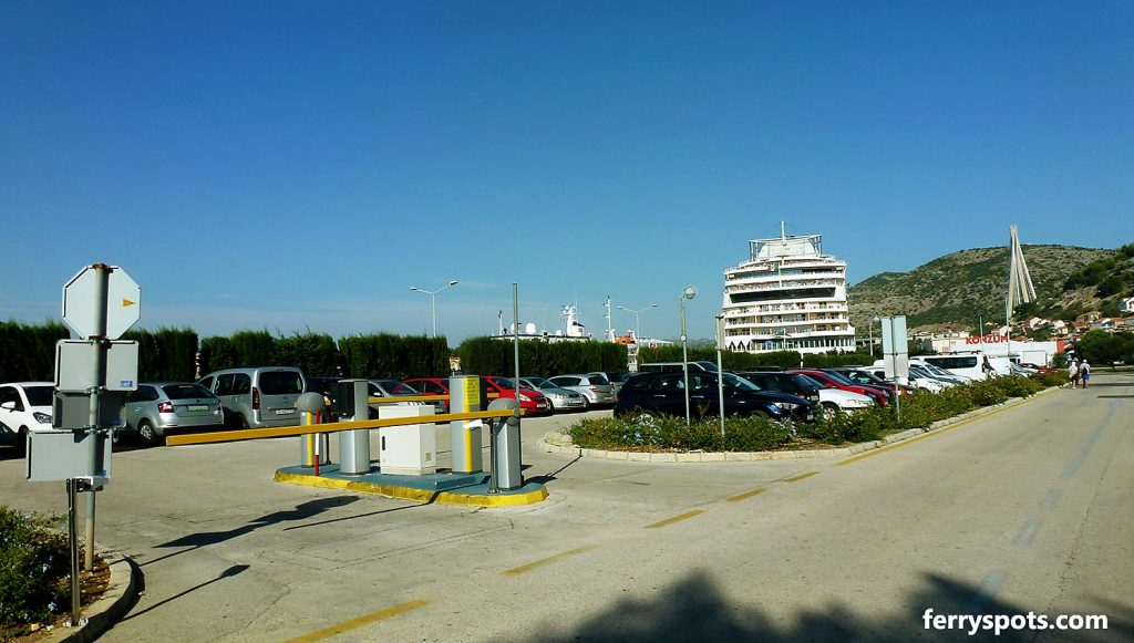 Parking lot in Dubrovnik ferry terminal
