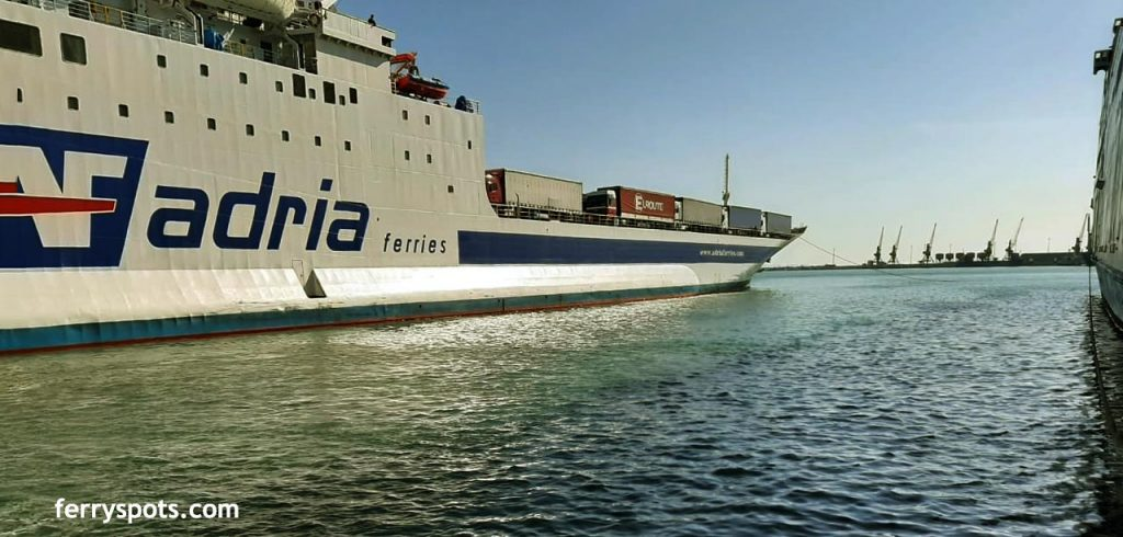 Adria Ferries docking in Durres Ferry Port