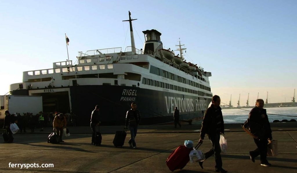 Ventouris ferry arrived in Durres Ferry port