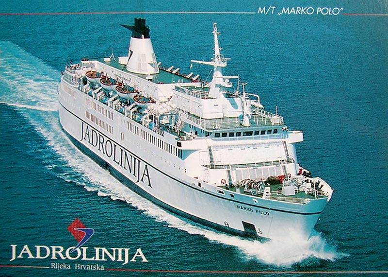 Jadrolinija's ferry Marco Polo connects Croatia with Italy
