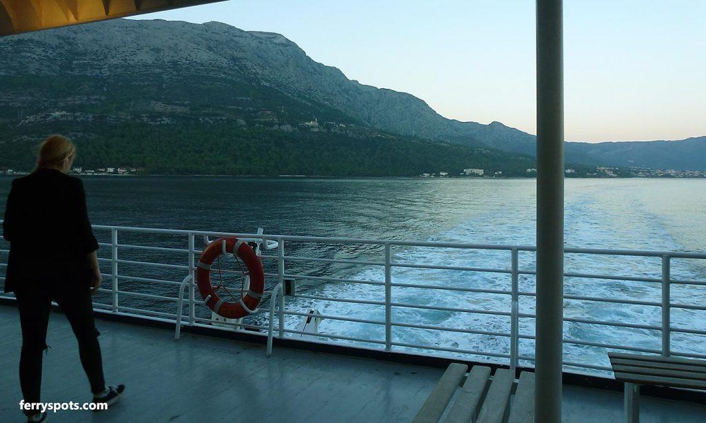 Orebic to Dubrovnik by ferry, on board, outside deck
