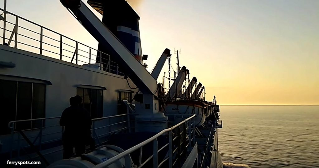 Onboard of ferry from Italy to Albania