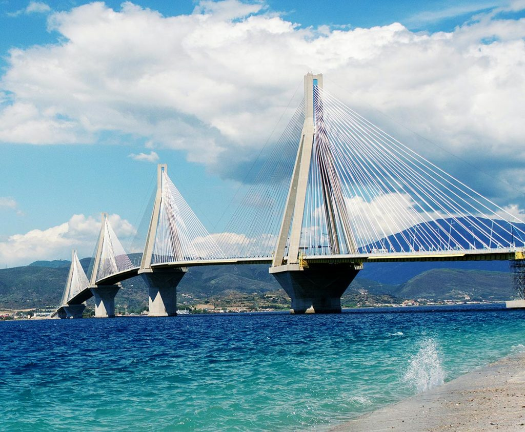 Rion-Antirion Bridge, situated just outside the city