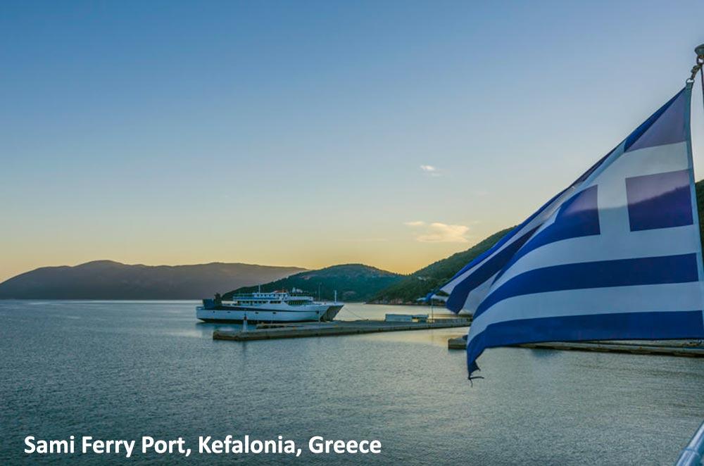Ferry approaching Sami, Kefalonia