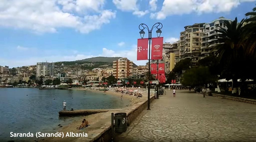 Approach to ferry port in  Saranda, Albania