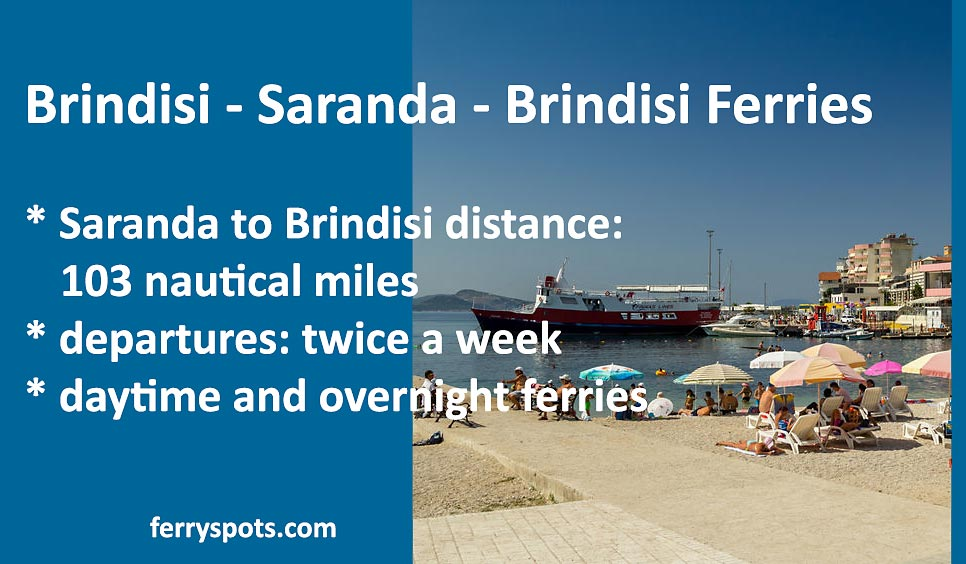 Ferries Saranda Brindisi facts