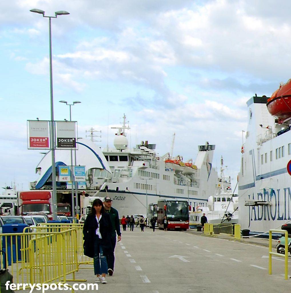 Jadrolinija's Car Ferr to Ancona docking in Split Ferry Port