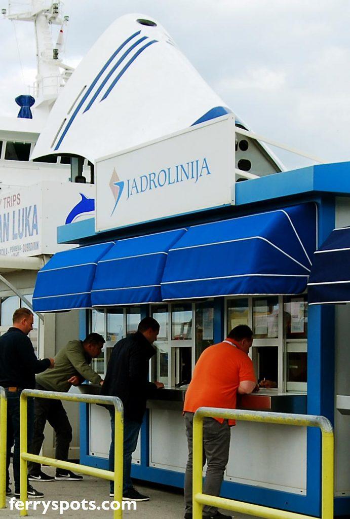 Jadrolinija's Ticket Office in Split Ferry Port