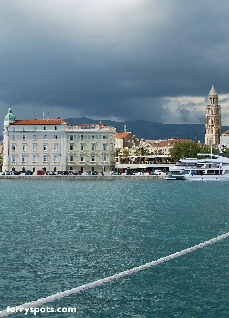 Lovely views over Split ferry port towards the city centre