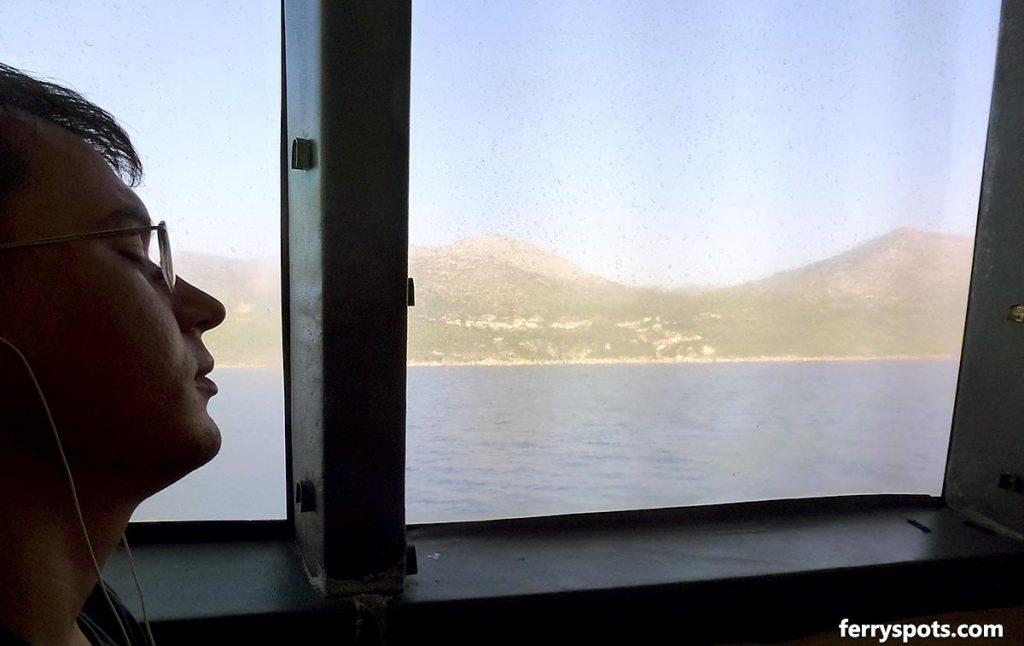 Relaxing on the last leg of trip - approach to Dubrovnik by Krilo or Jadrolinija Catamaran