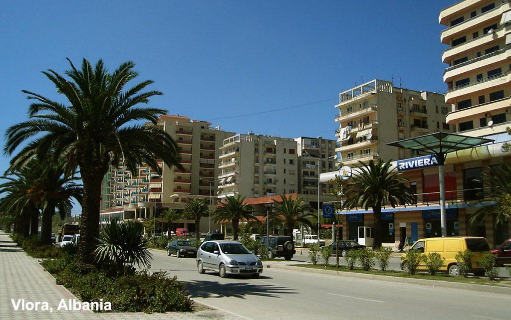 Seafront promenade in Vlore, Albania